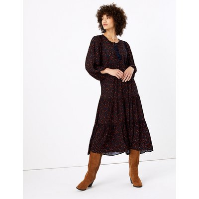 M&S Collection Ditsy Print Relaxed Midi Dress