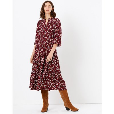 M&S Collection Ditsy Floral Print Relaxed Midi Dress
