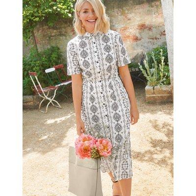 M&S Collection Printed Shirt Midi Dress