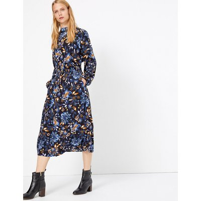 M&S Collection Floral Midi Dress