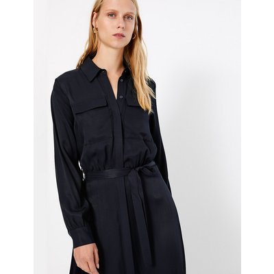 M&S Collection Tie Front Shirt Midi Dress
