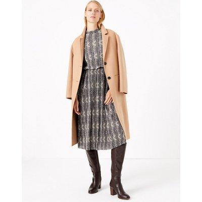 M&S Collection Animal Print Waisted Midi Dress