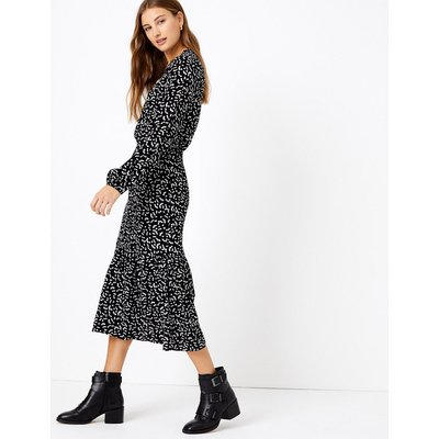 M&S Collection Frill Collar Waisted Midi Dress