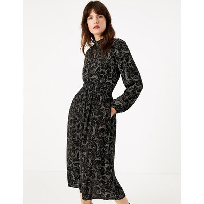 M&S Collection Swirl Waisted Midi Dress
