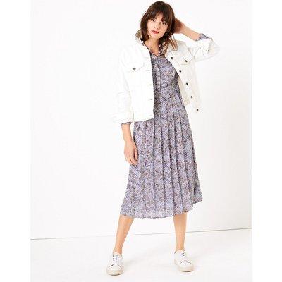 M&S Collection Animal Print Shirt Midi Dress