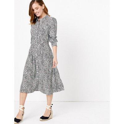 M&S Collection PETITE Printed Shirt Midi Dress