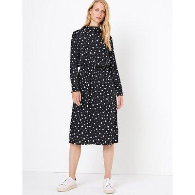 M&S Collection Polka Dot Waisted Midi Dress