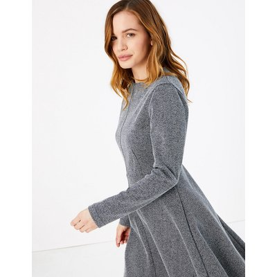 M&S Collection PETITE Ponte Fit & Flare Dress