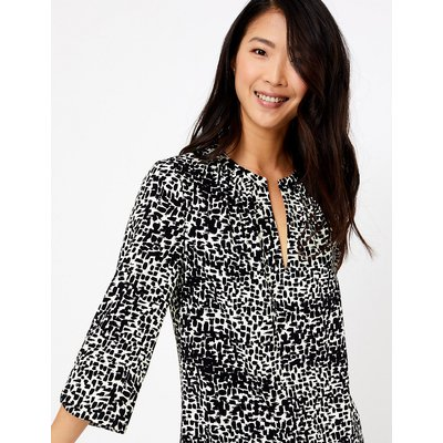 M&S Collection Crepe Printed Shift Dress
