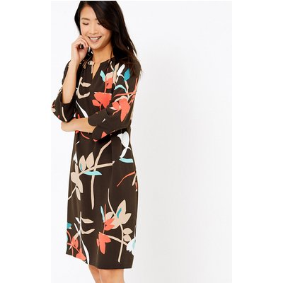 M&S Collection Crepe Floral Shift Dress