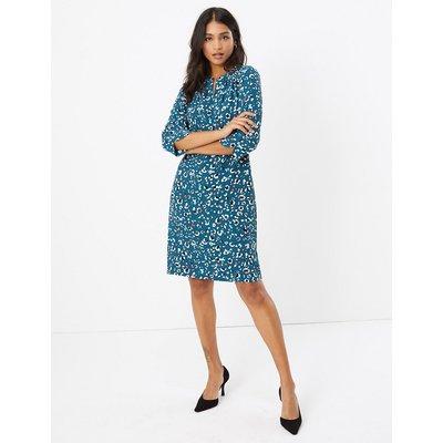 M&S Collection Crepe Animal Print Shift Dress