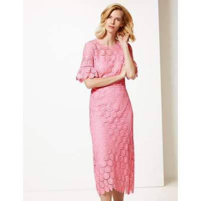 M&S Collection Lace Waisted Midi Dress
