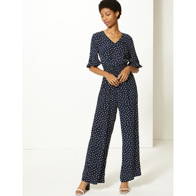 M&S Collection Polka Dot Waisted Jumpsuit