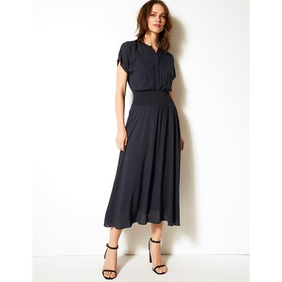 M&S Collection Smocked Waisted Midi Dress
