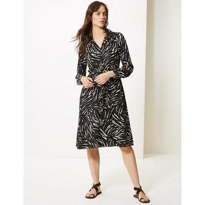 M&S Collection Animal Print Shirt Dress