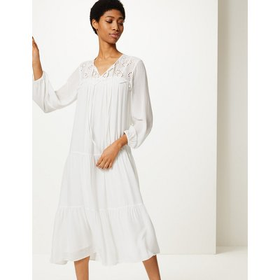 M&S Collection Embroidered Relaxed Midi Dress