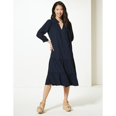 M&S Collection Crinkled Relaxed Midi Dress