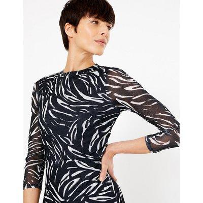 M&S Collection Animal Print Jersey Waisted Midi Dress