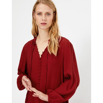 M&S Collection Button Detail Midi Relaxed Dress