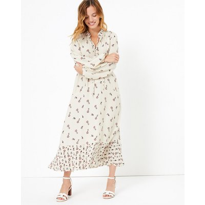 M&S Collection PETITE Printed Midi Relaxed Dress