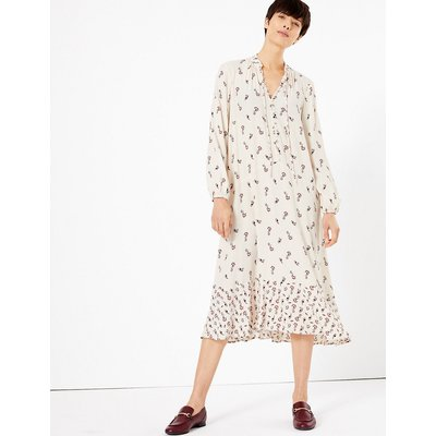 M&S Collection Printed Relaxed Midi Dress