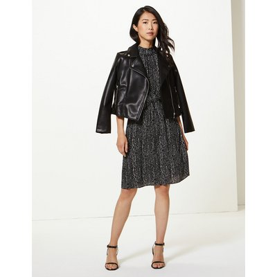 M&S Collection Printed Waisted Dress