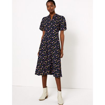 M&S Collection Floral Midi Shirt Dress