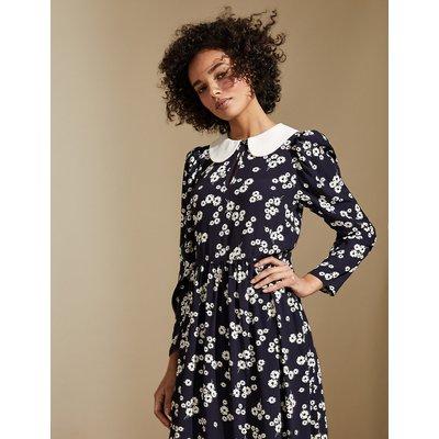 M&S X GHOST Floral Peter Pan Collar Midaxi Tea Dress