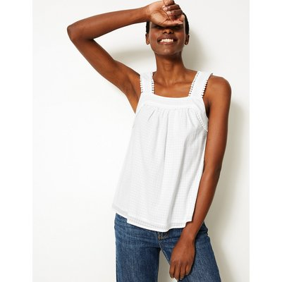 M&S Collection Pure Cotton Textured Camisole Top