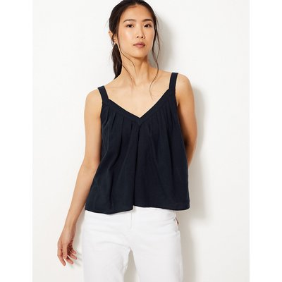 M&S Collection Linen Rich Camisole Top