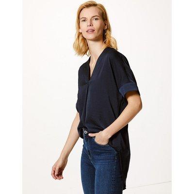 M&S Collection V-Neck Longline Short Sleeve Tunic