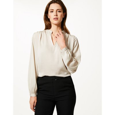 M&S Collection Washed Satin Relaxed Fit Blouse