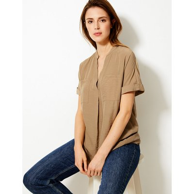 M&S Collection Patch Pocket Longline Tunic