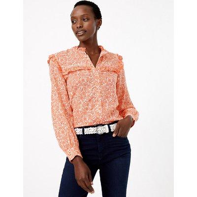 M&S Collection Cotton Blend Floral Print Blouse