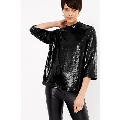 M&S Collection Sequin 3/4 Sleeve Blouse