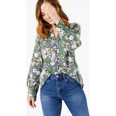 M&S Collection PETITE Floral Longline Blouse