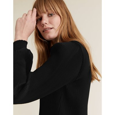 M&S Collection Plisse Long Sleeve Blouse