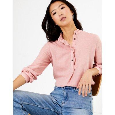 M&S Collection Cotton Rich Longline Blouse