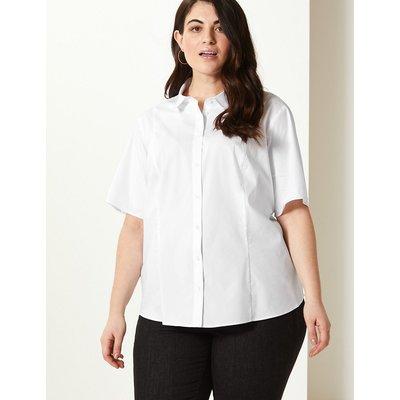 M&S Collection CURVE Cotton Rich Button Detailed Shirt