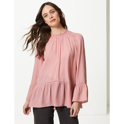 M&S Collection High Neck Long Sleeve Blouse