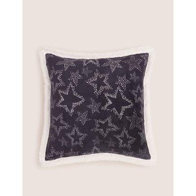Star Fleece Medium Cushion navy
