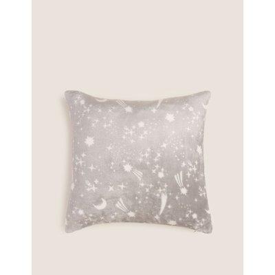 Shooting Star Soft Fleece Medium Cushion grey