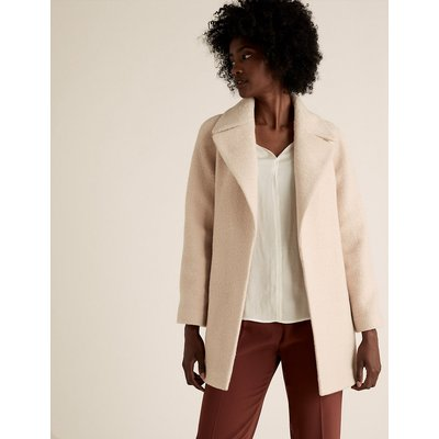 M&S Collection Textured Belted Wrap Coat