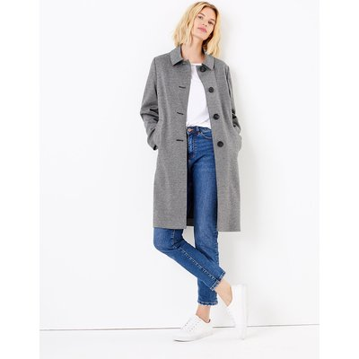 M&S Collection Checked Coat