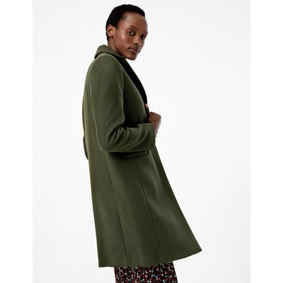 M&S Collection Soft Touch City Coat