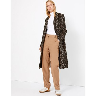 M&S Collection Tailored Jacquard Coat with Wool