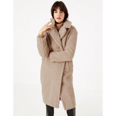 M&S Collection Faux Fur Teddy Coat