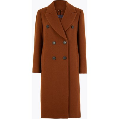 M&S Collection PETITE Double Breasted Overcoat