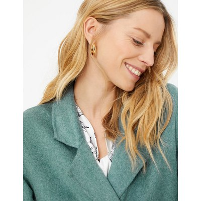 M&S Collection Button Detailed Double Breasted Overcoat