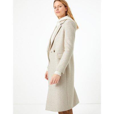 M&S Collection Wool Blend Longline City Coat